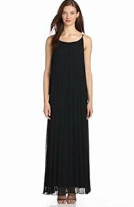 Bcbg generation Black Pleated Long Dress